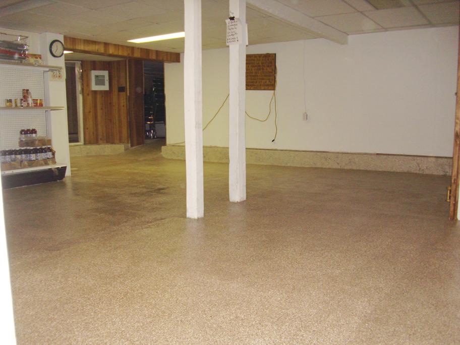 plancher de sous sol en b ton avec granule tr s facile d entretien ciment turgeon pour. Black Bedroom Furniture Sets. Home Design Ideas
