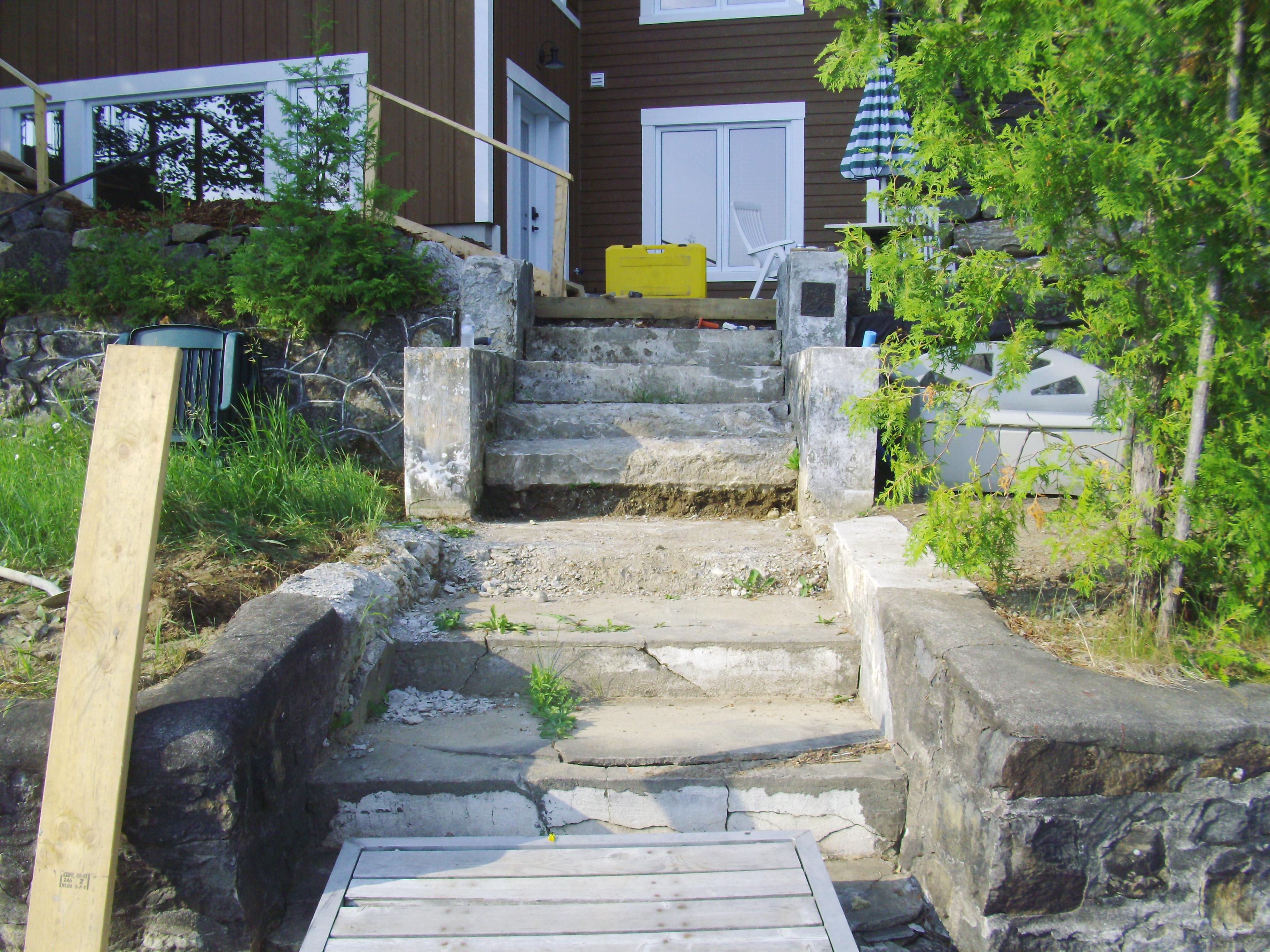 reconstruction d un escalier en ciment ciment turgeon pour tous vos besoins en ciment. Black Bedroom Furniture Sets. Home Design Ideas